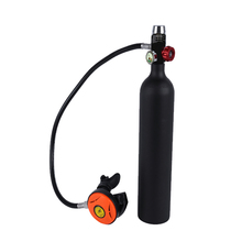 1L Scuba Oxygen Cylinder Diving Air Tank Scuba Regulator Diving Respirator with Gauge Snorkeling Diving Tool Breathing Equipment цена