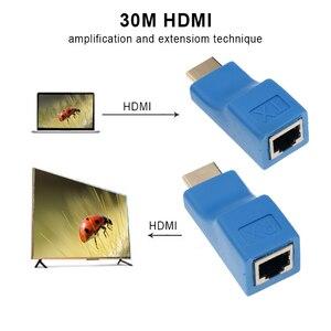 Image 4 - 1 زوج من موسّع HDMI HDMI بجودة 4K HDMI 1.4 30 متر من Bundwin مع محول شبكة إيثرنت RJ45 على مدى Cat 5e/6 لـ HDTV HDPC