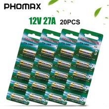 PHOMAX 20pcs/pack 5pcs/card 27A alkaline dry batte