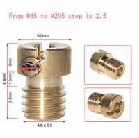 6 8 10 12 pièces M5 Rond GICLEUR Principal Pour Keihin CVK PE PZ PWK OKO KOSO Carburateur 65 à 205
