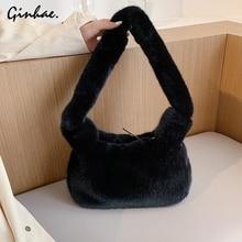 Woman Bags Bucket-Bag Messenger-Bag Large Tote Soft-Wool White Luxury Designer Brand