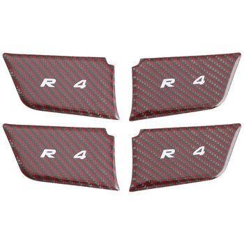 Décoration intérieure porte bol poignée en fibre de carbone patch intérieur porte poignée autocollant modifié accessoires pour TOYOTA RAV4 2019 2020
