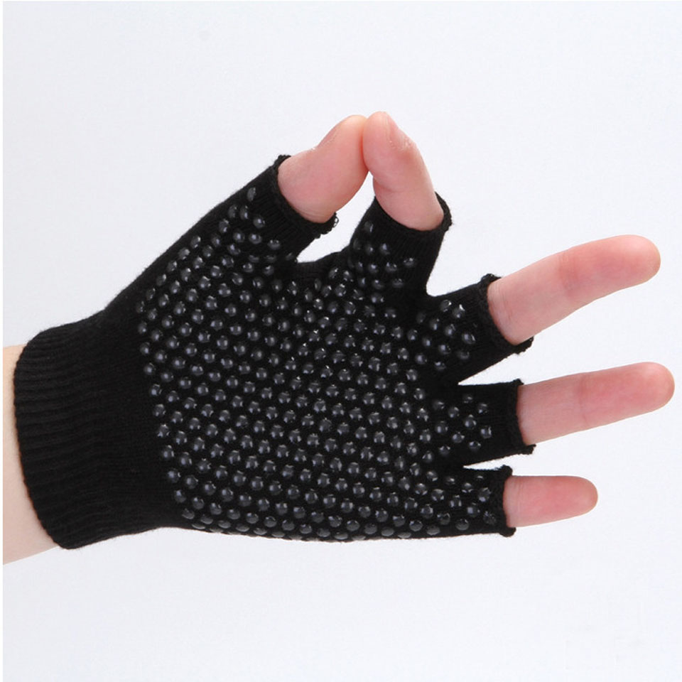 Loogdeel  Yoga Sports Gloves For Women Men Gym Fitness Non Slip Training Workout Bodybuilding Half Finger Hand Protector