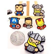 Cute Hero Marvel Avenger Cartoon Figure Fridge Magnets Souvenir Icon Sticker Refrigerator Magnet Xmas Gift Home Decor Kid