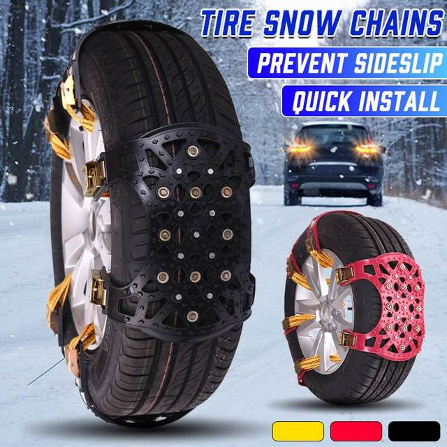 2020 New TPU Snow Chains Universal Car Suit 165-275mm Tyre Winter Roadway Safety Tire Chains Snow Climbing Mud Ground Anti Slip