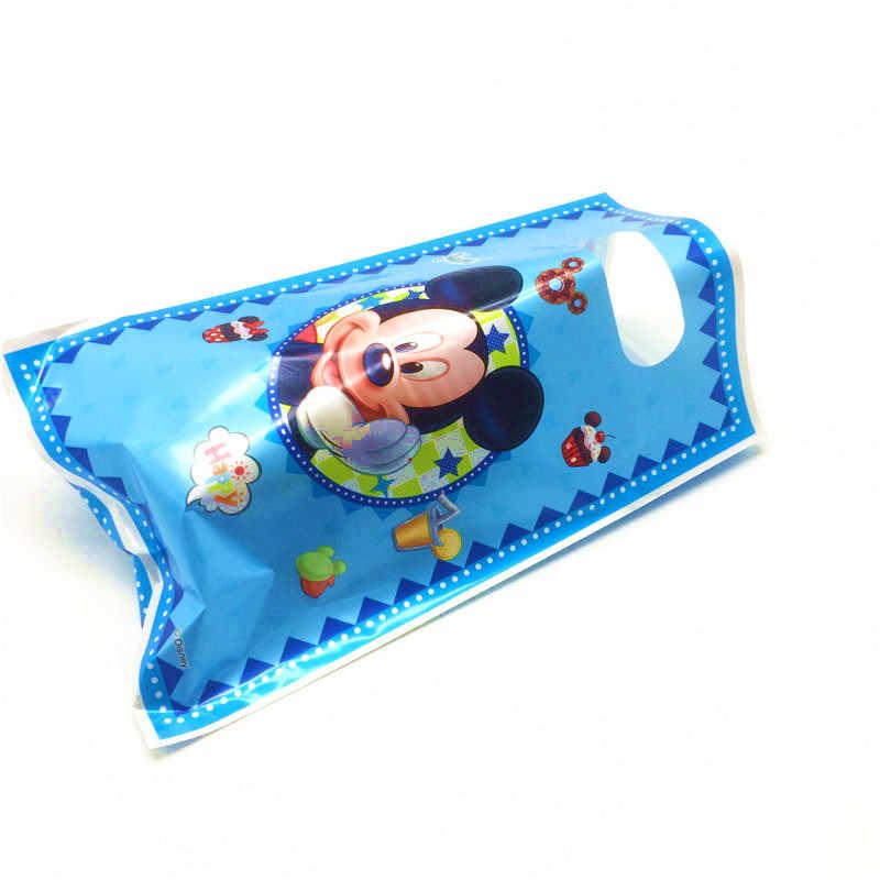 Disney Mickey Mouse dekoracje na przyjęcia urodzinowe Kid Plate słomka do picia serwetka jednorazowe zastawy stołowe Baby Shower Event zestaw imprezowy
