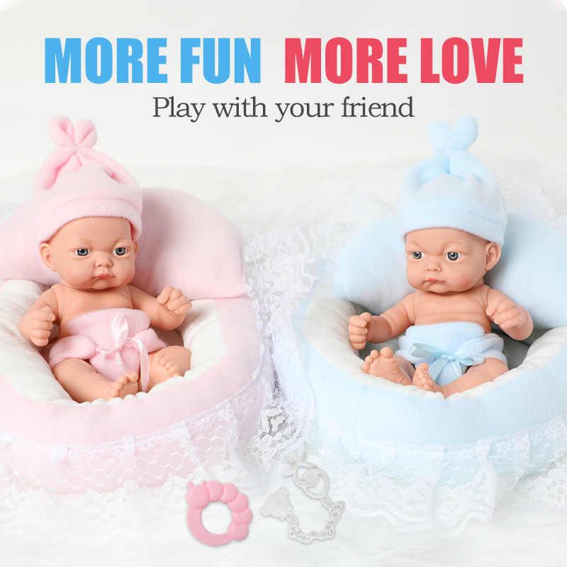 26 Cm Full Body Siliconen Bebe Reborn Poppen 10 Inch Waterdichte Boneca Bad Realistische Premie Pasgeboren Baby Doll Voor Speelgoed meisje Gift