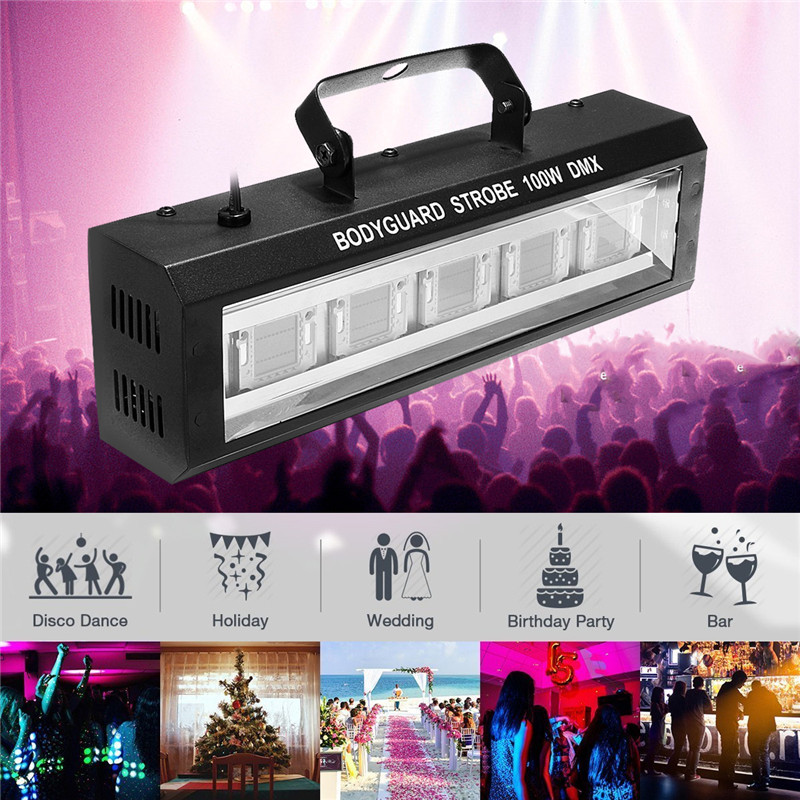 40/60/80/100W DMX512 LED Strobe  Flashing Lighting  Bar Disco DJ KTV Sound Activated Lamp  Effect Lighting US Plug