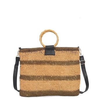 Women Handbag Summer Straw Beach Bags Women Large Knitted Straw Bag Beach Bags Women Large Large Tote Designer Crossbody Purse