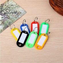 Porte-clés en plastique coloré personnalisé 10 pièces, étiquettes d'identification de bagages, porte-clés avec cartes nominatives pour de nombreuses utilisations
