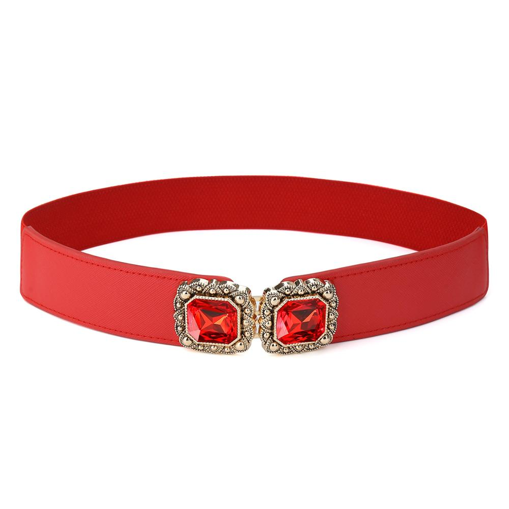 CATELLES one size Dámská široká cummerbundová ozdoba šaty diamantový elastický pásek ženské velikosti jedna