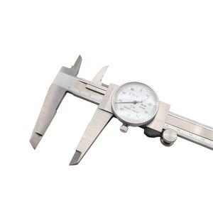 Image 2 - الطلب الفرجار 0 150 0 200 300 مللي متر 0.01 مللي متر صناعة عالية الدقة الفولاذ المقاوم للصدأ الورنية الفرجار للصدمات متري أداة قياس