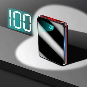 Image 3 - رائجة البيع باور بانك صغير 30000mah PowerBank LED بطارية خارجية 2 USB شاحن محمول ل دروبشيبينغ