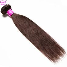 ARIEL Pre Gekleurde Human Hair Bundles Straight Indian Hair Weave Bundels Donker Licht Bruin #2 #4 Kleur niet Remy Hair Extensions