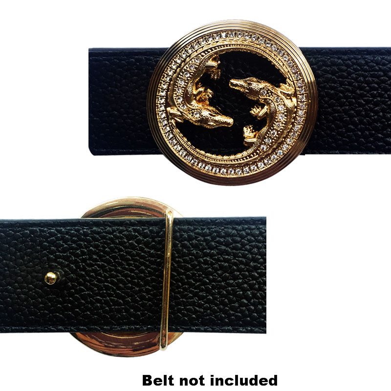 New Arrival Metal Accessories Western Leather Animal Icon Men Belt Buckles Suitable Hebillas Para Cinturon Hombre 4cm Width Belt