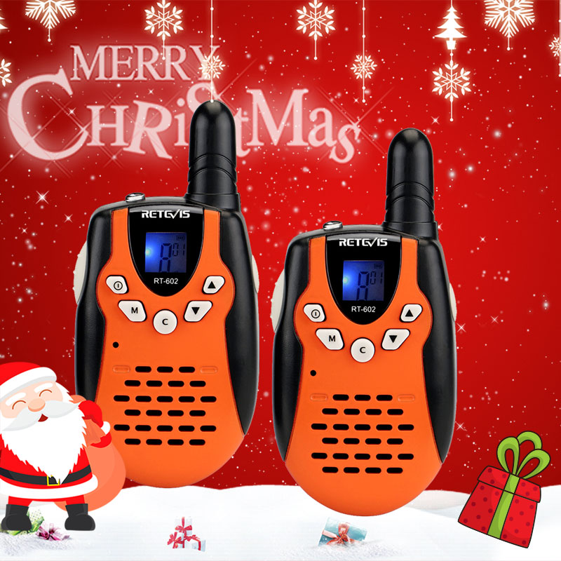 Walkie-Talkie Battery Game Christmas-Gift Children's Radio Retevis Rt602 Rechargeable