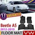 Индивидуальный автомобильный кожаный коврик для Volkswagen VW Beetle A5 2012 ~ 2019  5 мест  коврик для ног  аксессуары для ковров  2013  2014  2015  2016  2017