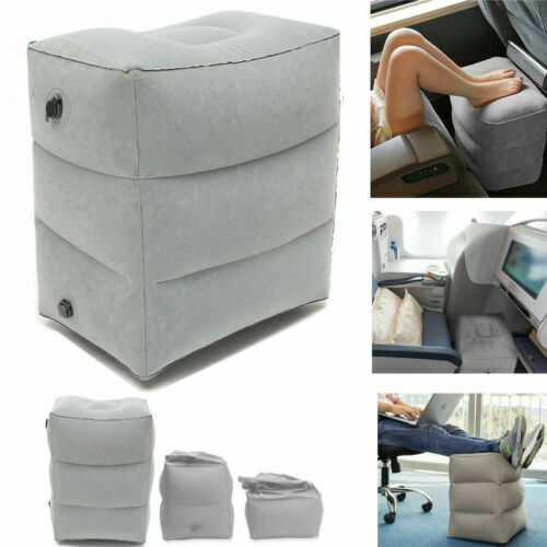 Inflatable Travel Footrest Leg Foot Rest Air Plane Pillow Pad Kids Bed Portable Air Pad Kids Bed Cushion Footpad Plane