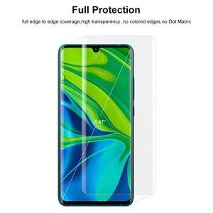 Image 5 - Screen Protector Gehärtetem Glas Für XiaoMi Hinweis 10 mit fingerprint entsperren UV Glas film volle abdeckung für MI Hinweis 10