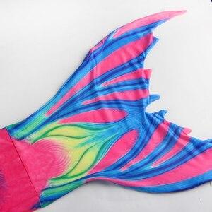 Image 4 - Meerjungfrau kostüme Kinder Mädchen Meerjungfrau Schwänze mit Fin Badeanzug Bikini Bade kinder mermaid tails Anzug Kleid Mädchen Mit Flipper
