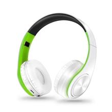 Con micrófono y Soporte para tarjeta TF, modo FM, conector de Audio, luz LED, auriculares inalámbricos con Bluetooth, auriculares estéreo 3D para música