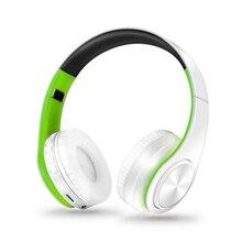 עם מיקרופון אוזניות תמיכה TF כרטיס FM מצב אודיו שקע LED אור אלחוטי Bluetooth אוזניות 3D סטריאו אוזניות מוסיקה אוזניות