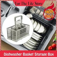1 pieza Universal cubertería lavavajillas cesta caja de almacenamiento ayuda de cocina pieza de repuesto caja de almacenamiento para lavavajillas