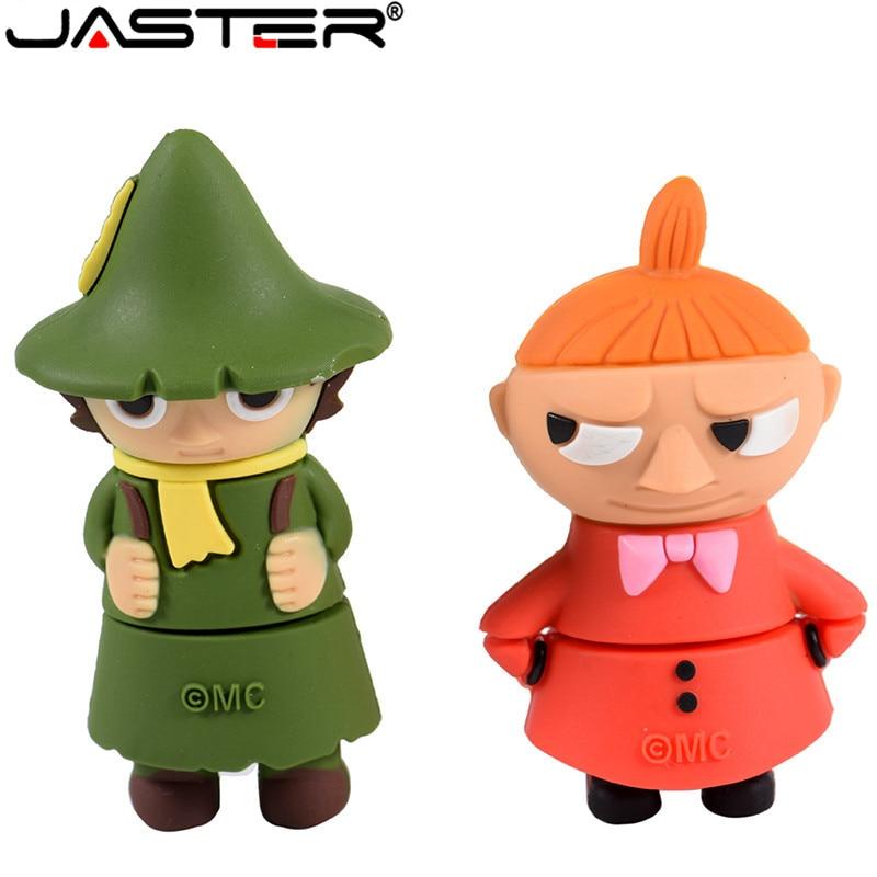 JASTER USB 2.0 64GB 32GB 16GB 4GB Cartoon Moomin Valley Memory Stick U Disk Lovely Little My/Snufkin Usb Flash Drive Pendrive