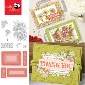 Cutting-Dies Stamps Stencil Die-Cut Scrapbooking Lace-Frame Embossing-Paper-Card FLOWER