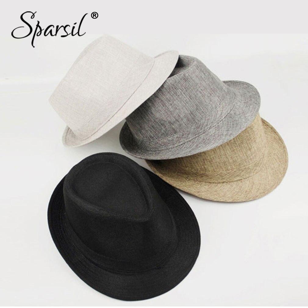 Sparsil Top-Hat Fedora-Cap Trilby Chapeau Jazz Panama Wide-Brim Autumn British Flat Unisex