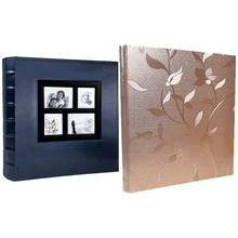 Photo Album Holds 4X6 400 Photos Pages Large Capacity Leather Cover (Blue) & Photo Album 4X6 620 (Champagne Gold)