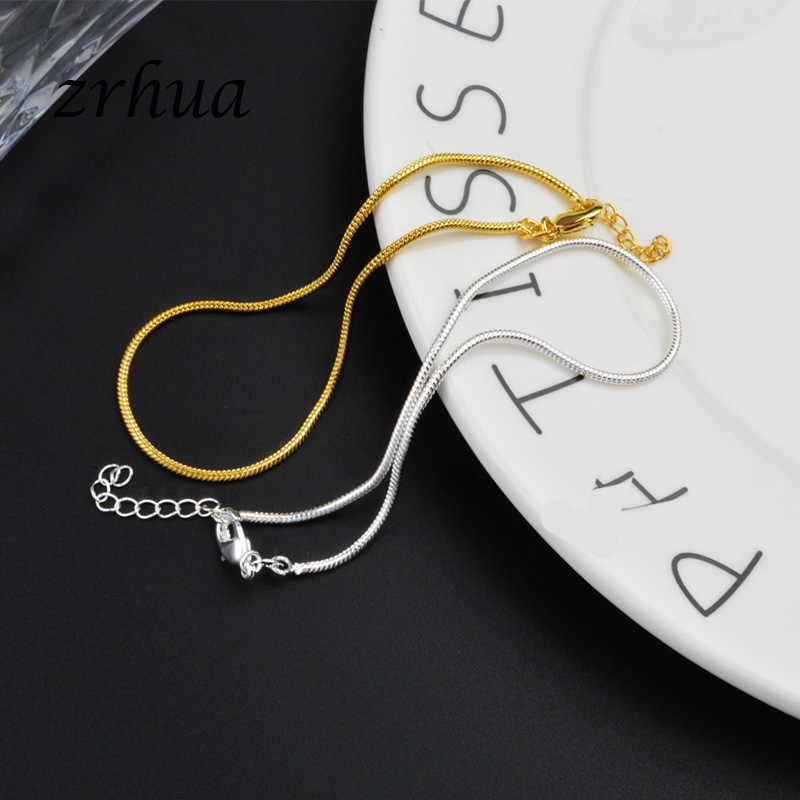 新着シンプル美しい小さなヘビチェーン 925 スターリングシルバーアンクレット最高品質クリスマスギフト女の子のため Engagment ビジュー