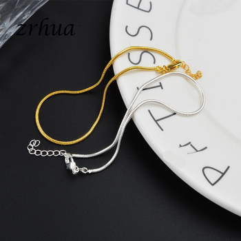 New Arrival Simple Beautiful Small Snake Chain 925 Sterling Silver Anklets Top Quality Christmas Gift For Girls Engagment Bijoux 4
