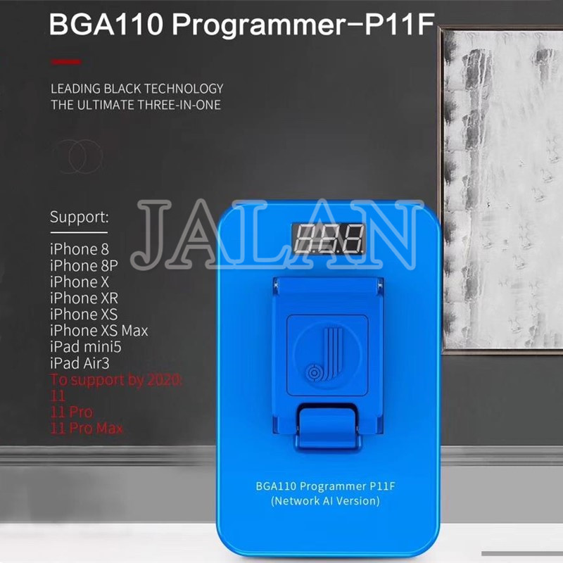 JC BGA110 Programmer P11 support iP 8 8P X XS XSMAX XR NAND SYSCFG Data Modification & Write and unbind wifi
