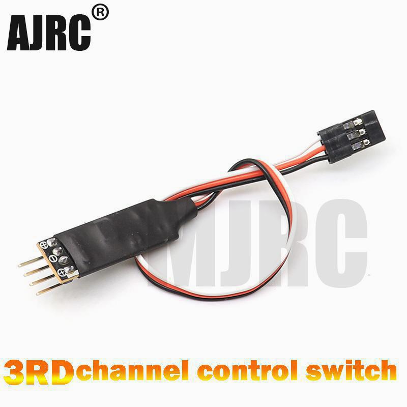 AJRC 3RD model car light 3 channel LED light switch panel system 3CH switch off remote control car light controller FUTABA TQI