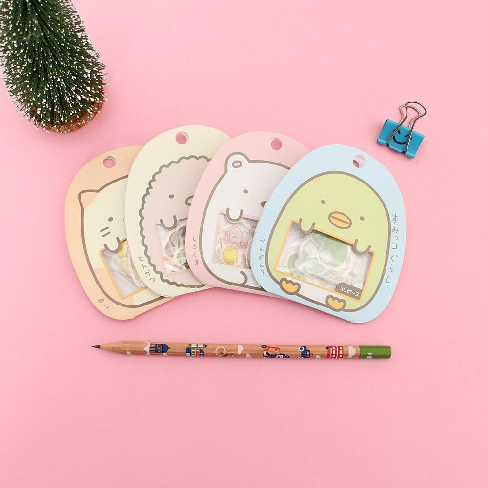 50 Pcs/lot(1 Bag) Diy Cute Cartoon Kawaii Pvc Stickers Lovely Cat Bear Sticker For Diary Decoration School Office Supplies