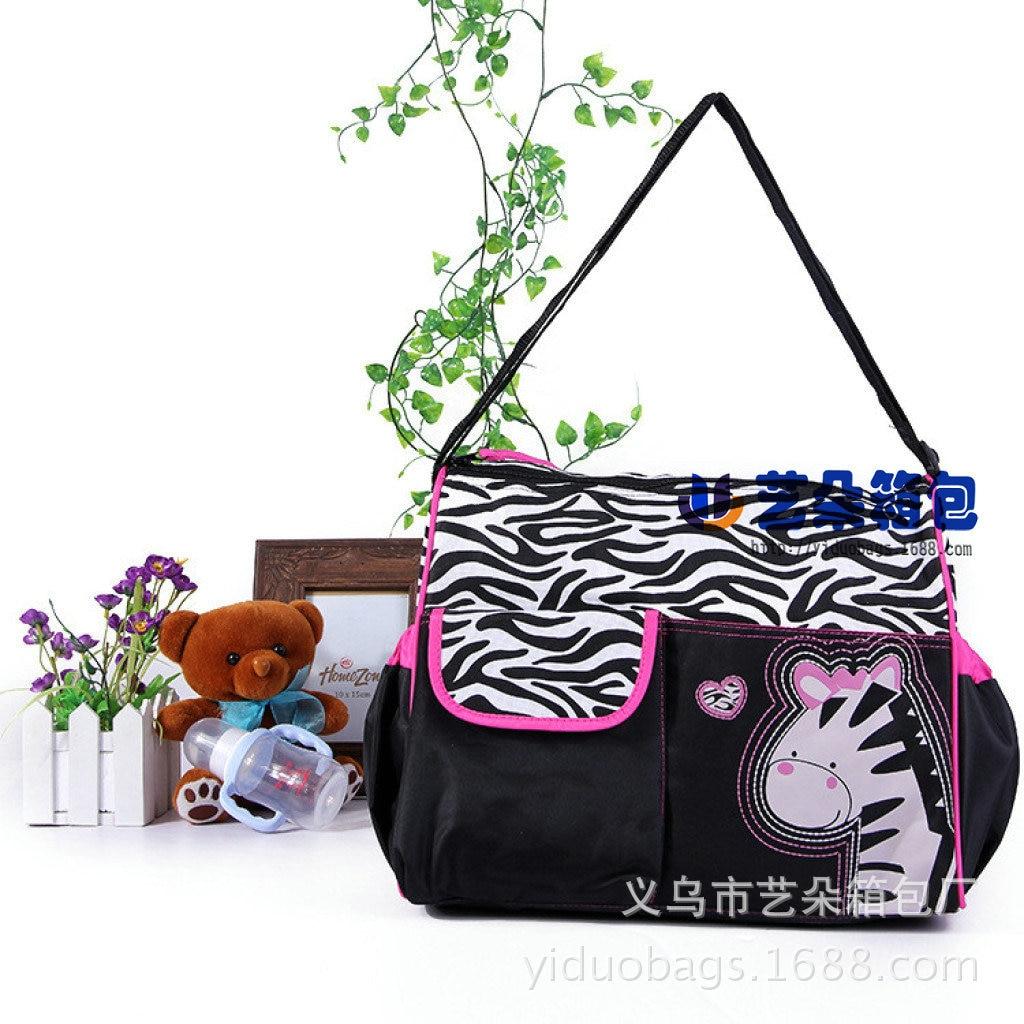 Multi-functional Mummy Bag Large Capacity Mommy Bag Mom And Baby Diaper Bag Maternity Package Zebra Giraffe