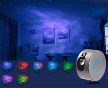 Led Colorful Night Light Novelty Gift Star Galaxy Projector Living Room Bedroom Decor Plug In Remote