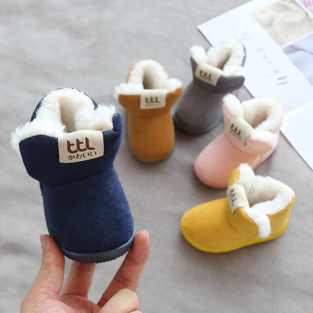 Toddler Infant Kid Baby Boys Girls Cartoon Winter Warm Short Boots Booties Shoes kids shoes children shoes boys girls sneakers
