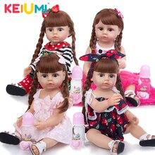 KEIUMI Neue Kommen Volle Silikon Rebron Baby Puppe Spielzeug 55 CM Kleinkind Tan Haut Mit Niedlichen Gesicht Bad Puppen Kinder geburtstag WEIHNACHTEN Geschenk
