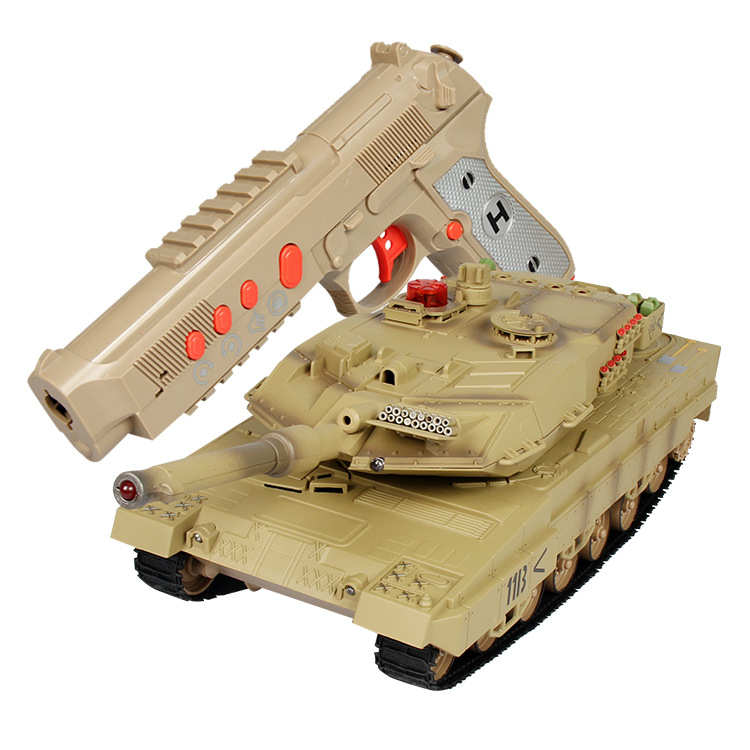 Large Size Parent And Child Infrared Battle Remote Control Tank Charging Off-road Model Crawler Remote Control Car CHILDREN'S To