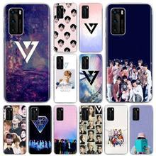 Zeventien Kpop Telefoon Case Voor Huawei P20 Lite P30 Lite P40 Pro + P20 P30 P10 Lite P Smart Plus Z 2019 Hard Cover