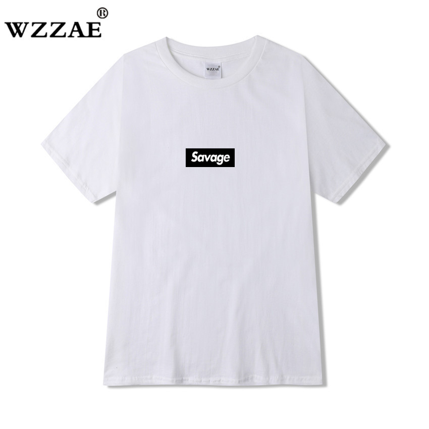 Suprem <font><b>21</b></font> <font><b>Savage</b></font> Hip Hop T-Shirt T shirt Rapper Men T Shirts HipHop Rap Tee Music Tshirt Male image