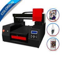 Colorsun Automatic A3+ 33*60cm UV Printer wood acrylic bottle Metal printer uv flatbed for Epson DX9 printhead with faster speed
