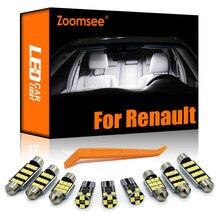 Zoomsee dla Renault Laguna Clio Megane Grand Scenic Espace 1 2 3 4 CC Kangoo Koleos Captur Kadjar Modus zestaw oświetlenia wnętrza LED