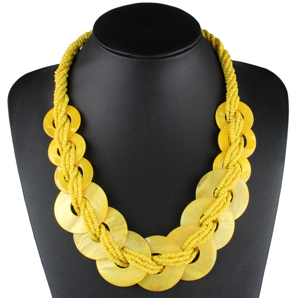 Gold Black Rope Chain Braided Boho Costume Fashion Jewellery Necklace