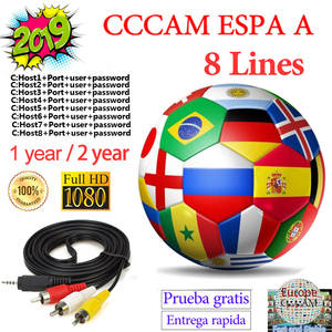 Server Receptor Satelite Portugal-Poland Cccam Europe Italia France 8-Line-Spain Espa