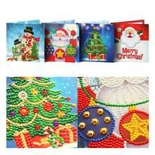 Рождество 5d Сделай Сам алмазная живопись открытки 8 шт рождественские