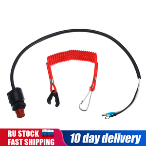 Outboard Cut off Switch Safety Tether Lanyard Boat Motor Emergency Kill Stop Switch For Engine Protect For Yamaha /Tohatsu(China)