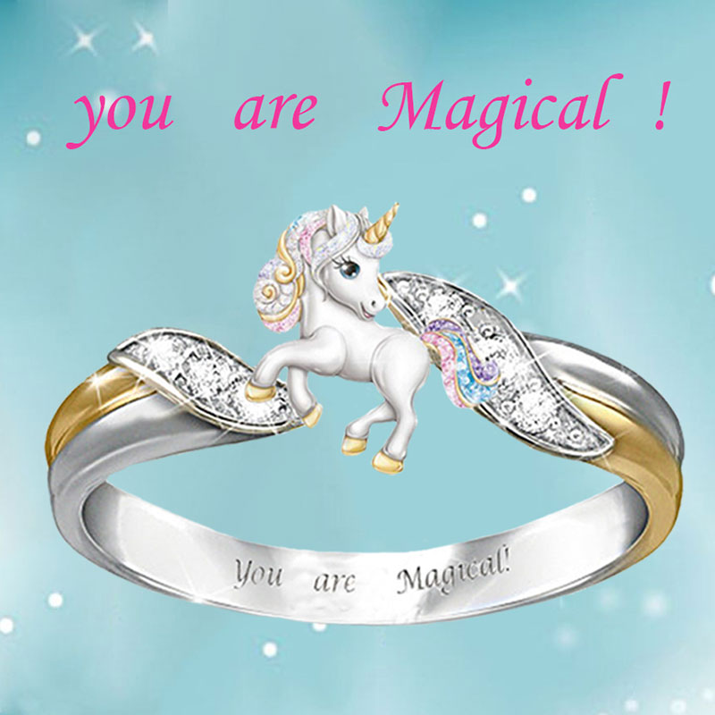 benefaith-Fashion-Rainbow-Unicorn-Ring-Silver-Gold-Color-Engagement-Animal-Rings-for-Women-Trendy-Cartoon-Kids